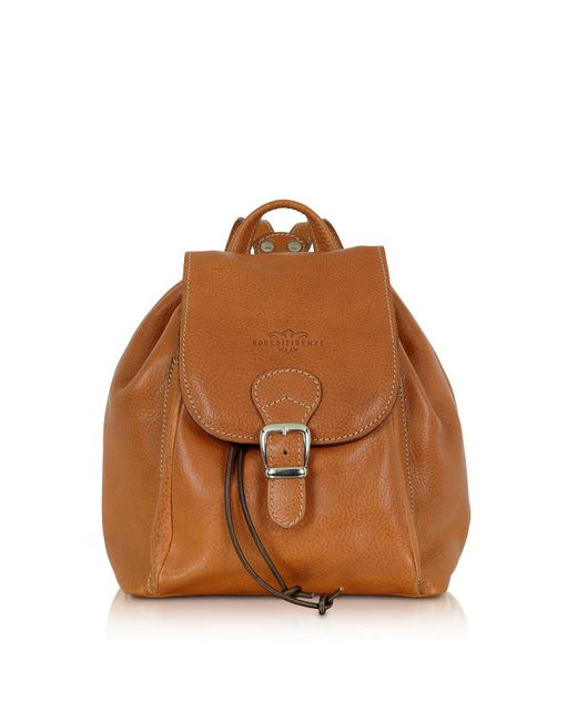 Robe Di Firenze - Brown Camel Italian Leather Backpack - Lyst
