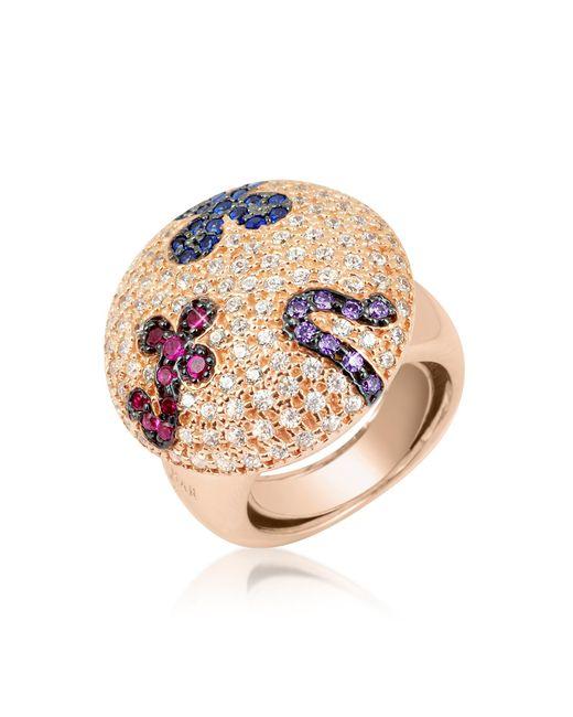 Azhar - Pink Multicolor Fashion Ring - Lyst