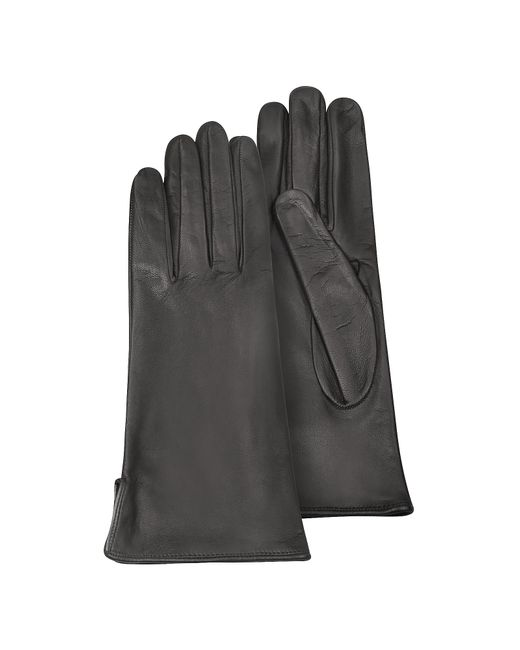 FORZIERI | Women's Black Calf Leather Gloves W/ Silk Lining | Lyst