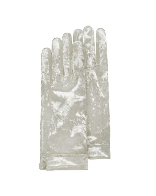 FORZIERI | Women's White Chenille Gloves | Lyst