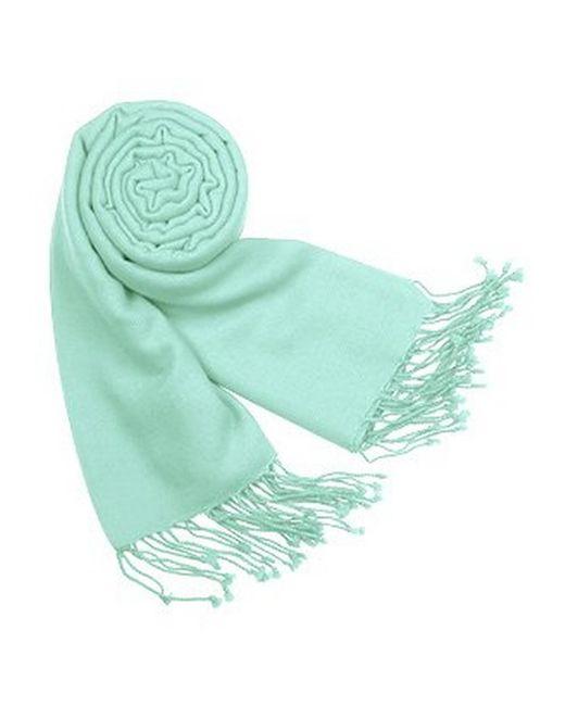 FORZIERI | Blue Solid Pashmina & Silk Fringed Shawl | Lyst