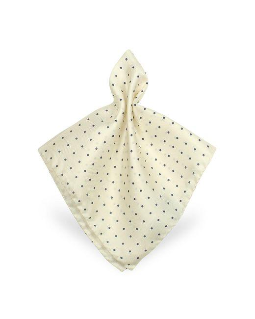 FORZIERI | White Polkadot Twill Silk Pocket Square for Men | Lyst