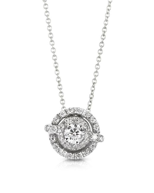 FORZIERI | 0.42 Ctw Diamond 18k White Gold Pendant Necklace | Lyst