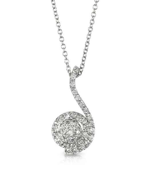 FORZIERI | 0.34 Ctw Diamond Pave 18k White Gold Pendant Necklace | Lyst