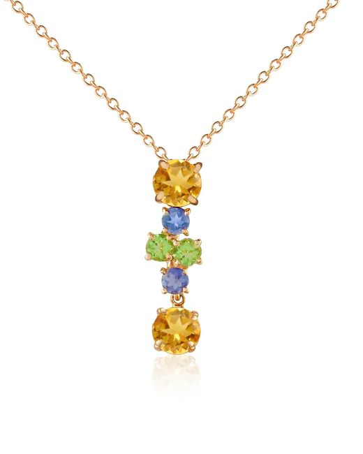 FORZIERI | Metallic Multicolor Gemstone 18k Gold Pendant Necklace | Lyst