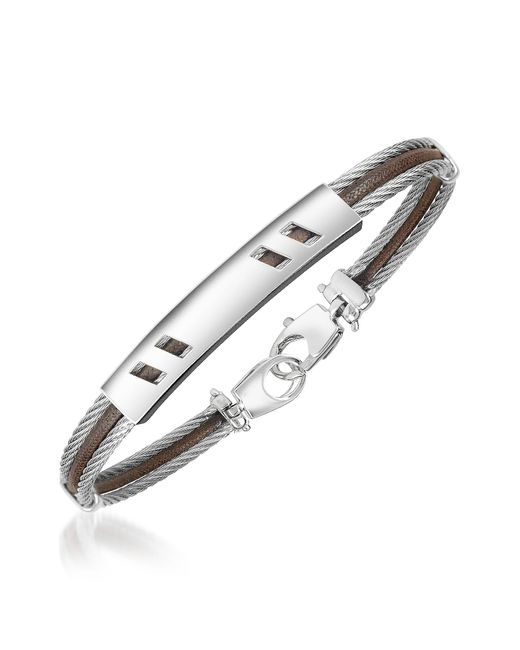 FORZIERI | Metallic Di Fulco - Stainless Steel Bracelet W/ Plaque for Men | Lyst