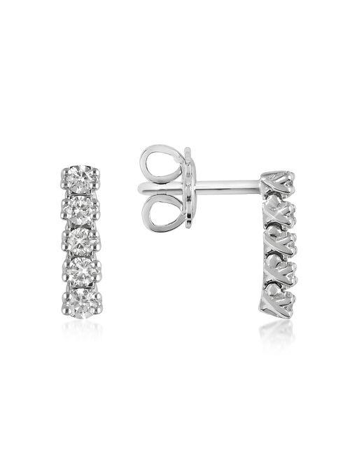 FORZIERI | White 0.37 Ctw Five-stone Drop Diamond 18k Gold Earrings | Lyst