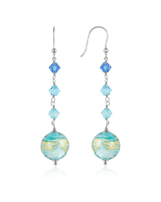 House of Murano | Blue Mare - Turquoise Murano Glass Bead Earrings | Lyst