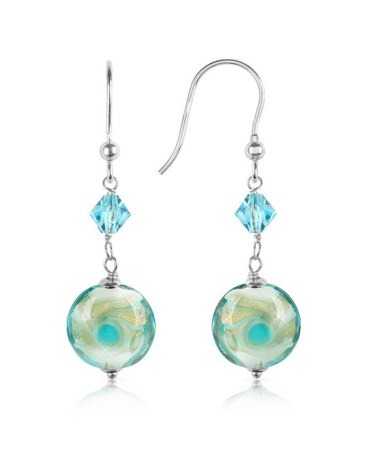 House of Murano | Blue Vortice - Turquoise Swirling Murano Glass Bead Earrings | Lyst