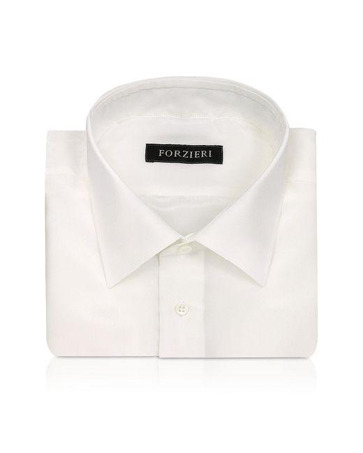 FORZIERI | White Ivory Pure Silk Dress Shirt for Men | Lyst