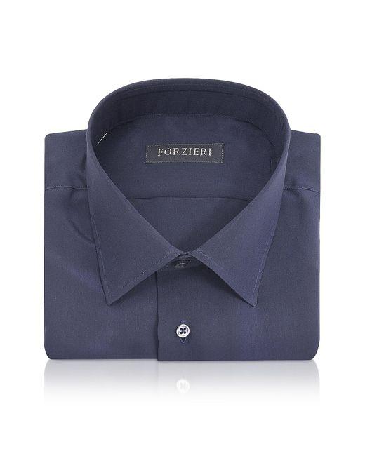 FORZIERI | Blue Pure Silk Dress Shirt for Men | Lyst