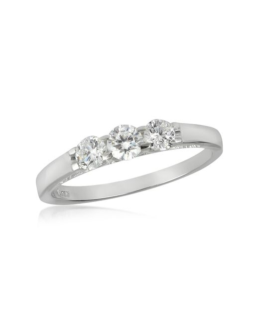 FORZIERI | 0.49 Ctw 18k White Gold Diamond Trilogy Ring | Lyst