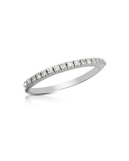 Forzieri | White 0.115 Ct Diamond Band Ring | Lyst