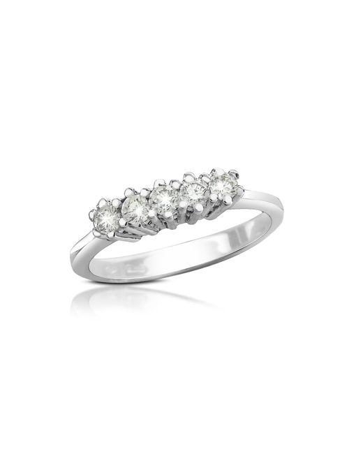 Forzieri | Metallic 0.225 Ct Diamond 18k Gold Band Ring | Lyst