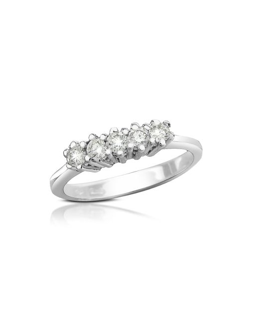 FORZIERI | Metallic 0.225 Ct Diamond 18k Gold Band Ring | Lyst