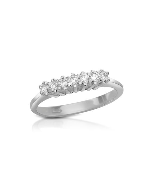 FORZIERI | Metallic 0.10 Ct Diamond 18k Gold Band Ring | Lyst