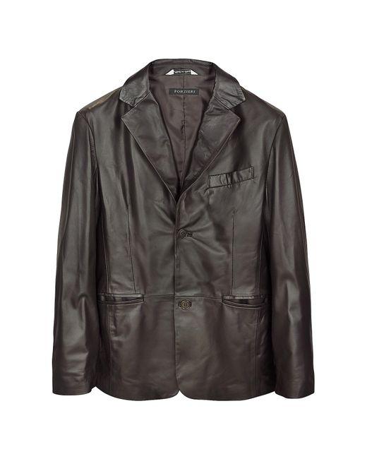 FORZIERI | Dark Brown Italian Leather Blazer for Men | Lyst
