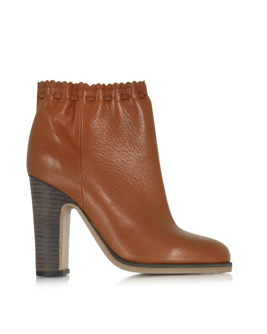 See By Chloé | Brown Jane Rust Leather Ankle Boot | Lyst