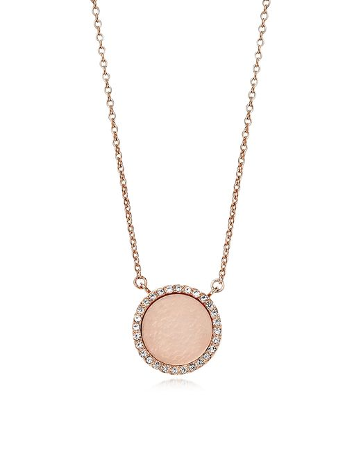 Michael Kors | Pink Pavé Bar Necklace | Lyst