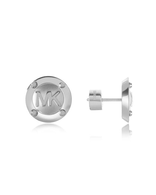 Michael Kors | Metallic Heritage Mk Logo Stud Earrings | Lyst