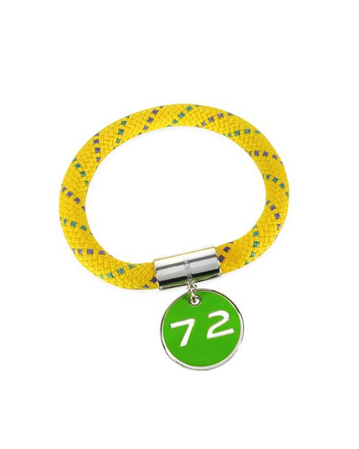Marc By Marc Jacobs | Yellow Nylon And Silvertone Brass 72 Location Bangle | Lyst