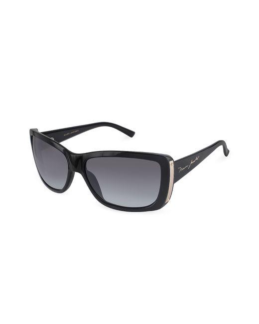 Marc Jacobs   Black Plastic Rectangular Signature Temple Sunglasses   Lyst