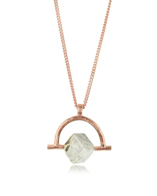 Bjorg | Pink Wonder Wander Agate Stone Women's Necklace | Lyst