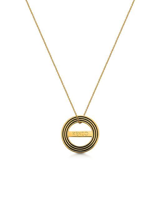 KENZO | Multicolor Goldtone Reversible Logo Necklace | Lyst