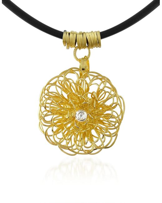 Orlando Orlandini | Central Diamond 18k Yellow Gold Pendant Necklace | Lyst