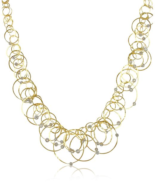 Orlando Orlandini | Scintille Anniversary - Diamond 18k Yellow Gold Necklace | Lyst
