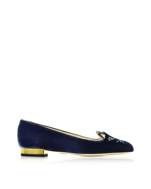 Charlotte Olympia | Black 'kitty' Slippers | Lyst