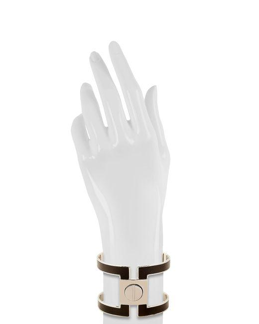 Pluma | White Brass Single Viti Cuff In Fumoso | Lyst