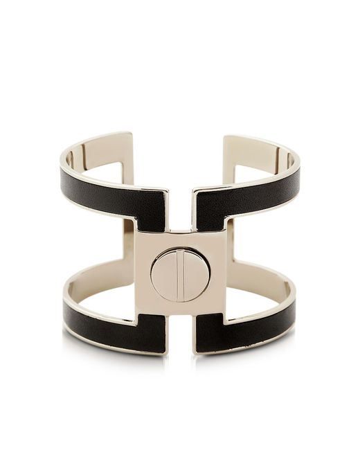 Pluma | Black Brass Single Viti Cuff In Fumoso | Lyst
