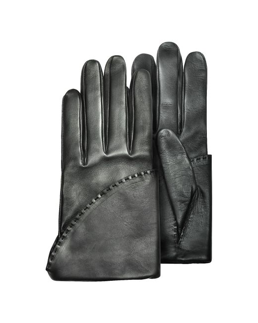 Pineider | Women's Black Short Nappa Gloves W/ Silk Lining | Lyst