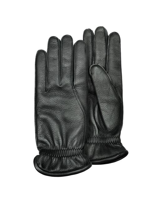 Pineider | Men's Black Deerskin Leather Gloves W/ Cashmere Lining for Men | Lyst