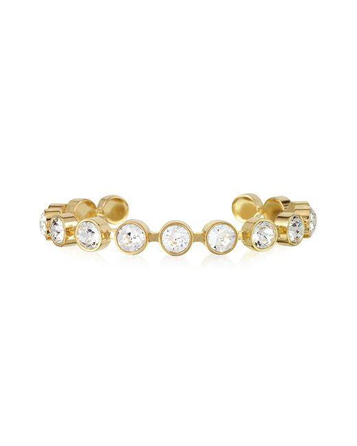Rebecca | White Candy 18 Kt Gold Plated Bronze Bracelet | Lyst