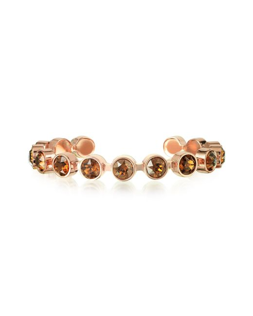 Rebecca | Brown Candy 18 Kt Gold Plated Bronze Bracelet | Lyst