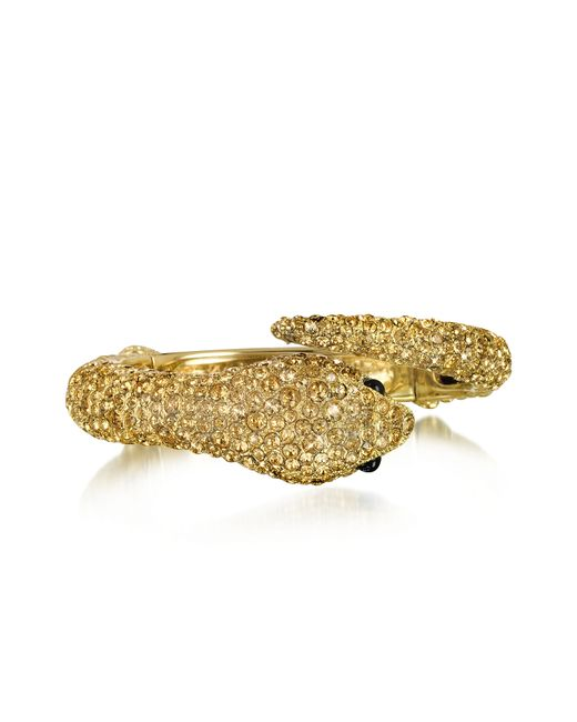 Roberto Cavalli | Metallic Africa Snake Bracelet | Lyst