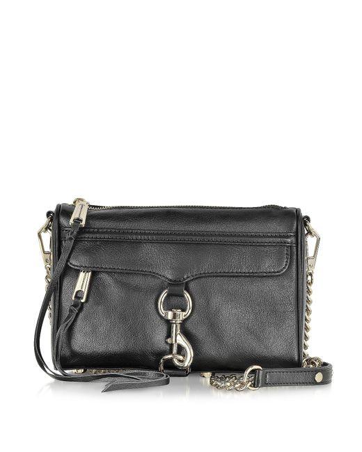 Rebecca Minkoff | Black Mini MAC Leather Cross-Body Bag | Lyst