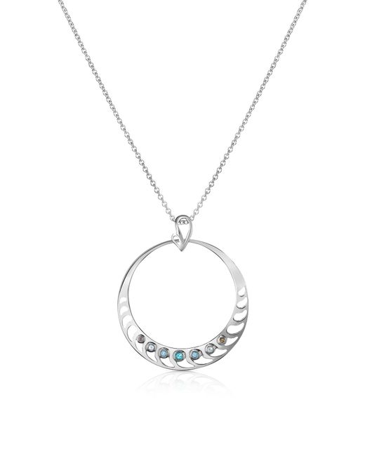Sho London | Metallic Sterling Silver Pendant Necklace | Lyst