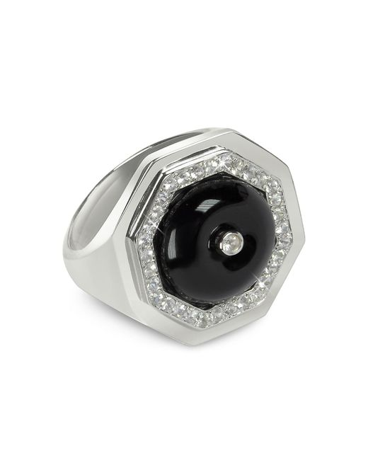 Sho London - Black Agate Clementina Ring - Lyst