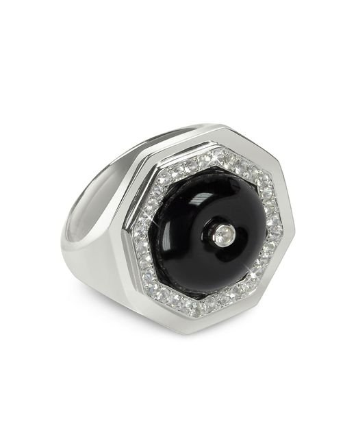Sho London | Black Agate Clementina Ring | Lyst
