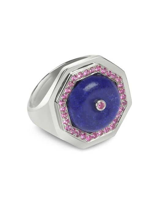 Sho London | Blue Lapis Lazuli Clementina Ring | Lyst