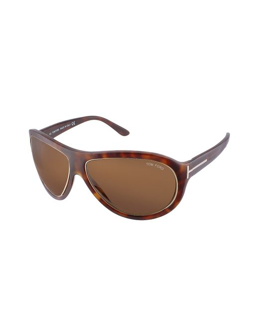 Tom Ford - Brown Angus - Metal Trim Logoed Temple Teacup Sunglasses - Lyst