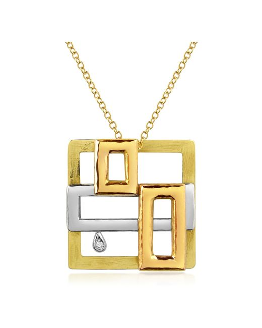 Torrini | Metallic Cubisme Diamond 18k Gold Pendant Necklace | Lyst