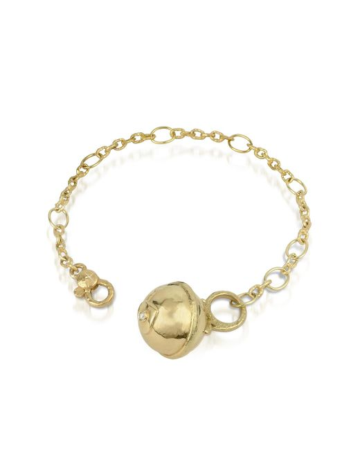 Torrini | Metallic Ball - 18k Gold And Diamond Charm Bracelet | Lyst