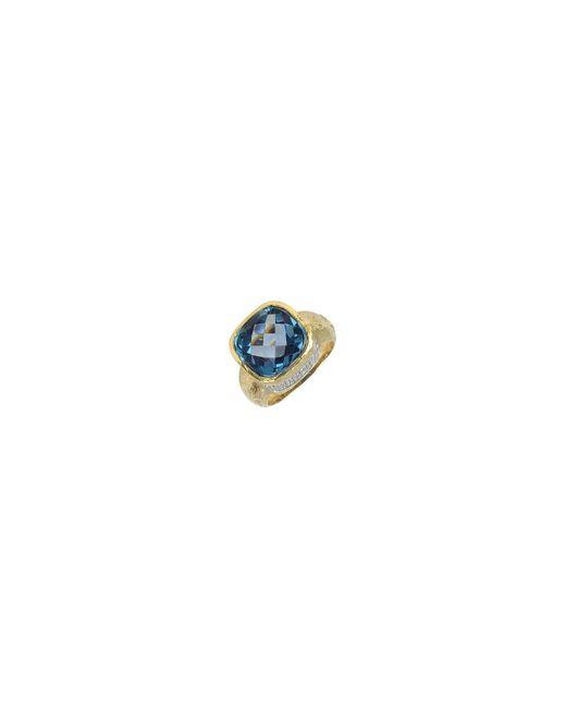 Torrini | Metallic Stefy - Topaz And Diamonds Yellow Gold Ring | Lyst