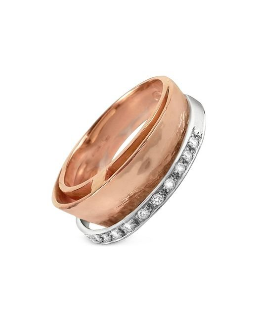Torrini | Pink Tama - Diamond Channel 18k Rose Gold Band Ring | Lyst