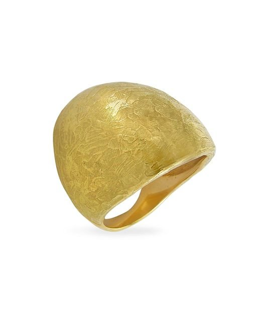 Torrini | Elena - Flamed 18k Yellow Gold Shield Ring | Lyst