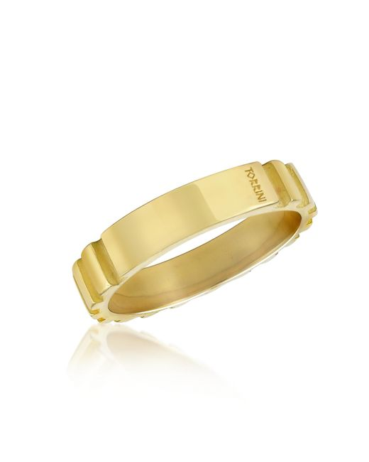 Torrini | Stripes - 18k Yellow Gold Band Ring for Men | Lyst